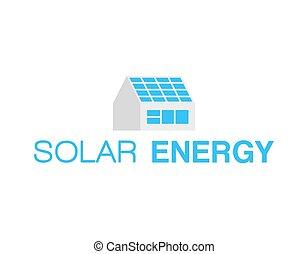 logo, énergie, solaire