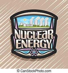 logo, énergie, vecteur, nucléaire