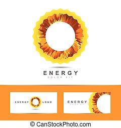logo, énergie, vecteur, symbole, solaire