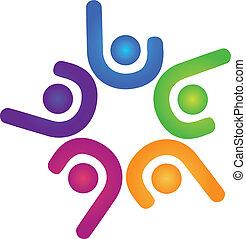 logo, équipe, business, reussite, gens