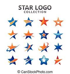 logo, étoile, collection