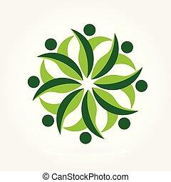 logo, ökologie, gemeinschaftsarbeit