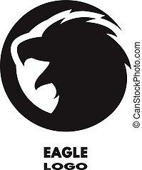 logo., örn, silhuett, monokrom