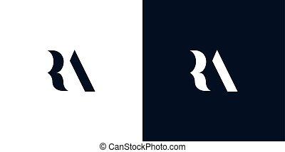 logo., 抽象的, 手紙, ra