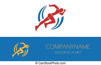logo-01, mand løbe