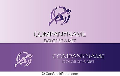 logo-01, mand løbe, sport