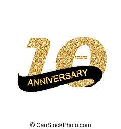 logo, 10ème, anniversaire, gabarit