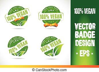 logo, 100%, vector, badge, vegan
