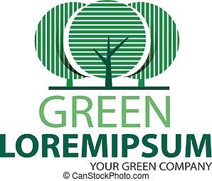 logo, 2, arbre vert