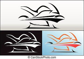 logo, 2, conception, moto