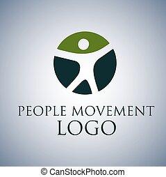 logo, 2 leute, bewegung