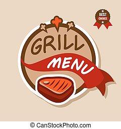 logo, 2, menu, grill
