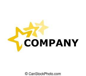 logo, 3, conception, étoile