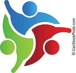 logo, 3, conception, business, bonjour
