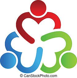 logo, 3, deler, konstruktion, firma