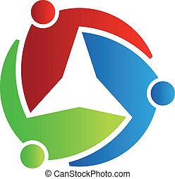 logo, 3, stern, geschaeftswelt, design.