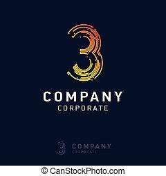 logo, 3, vecteur, conception, compagnie