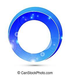 logo 3d blue ring