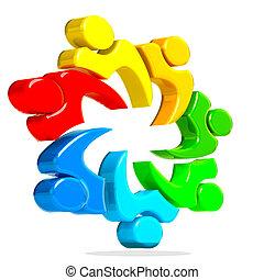 logo, 3d, collaboration, gens