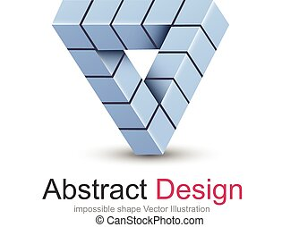 Logo 3D design, impossible object.