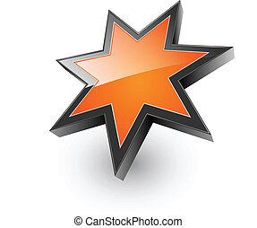 Logo 3D orange star
