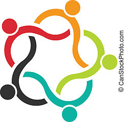 logo, 5, golf, teamwork, mensen