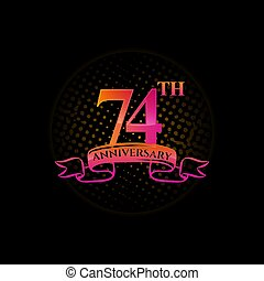Logo 74th Anniversary Logo with a circle and number 74 in it and labeled commemorative year.