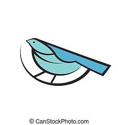 Logo abstract Bird design template.