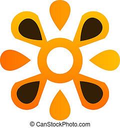 logo, abstract, bloem