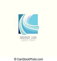 logo abstract. Business. Vector illustration. on white background. symbol