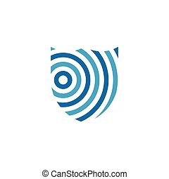logo, abstract, cirkel, schild
