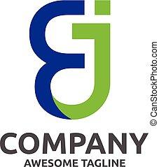logo, abstract, creatief, brief, ej