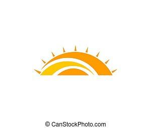 logo, abstract, creatief, ontwerp, zon