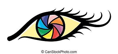 Logo abstract eyes.