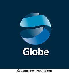 logo, abstract, globe