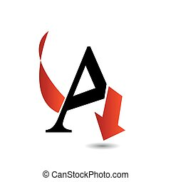 Logo abstract letter A