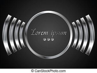 logo, abstract, metaal, cirkel, ontwerp
