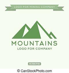 Logo abstract mountain, vector illustration