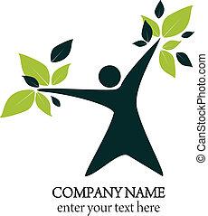 Logo abstract - natural health and wellness