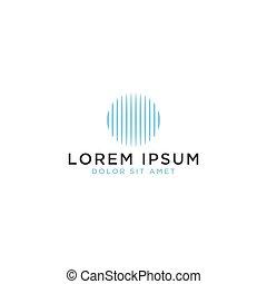 logo, abstract ontwerp, cirkel, mal
