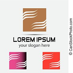Logo Abstract Ribbon Square vector