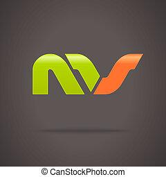 logo, abstract, vector, ontwerp, mal