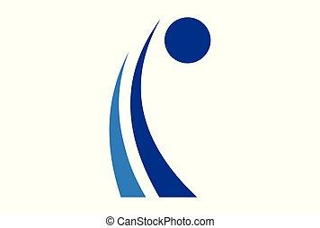 logo, abstract, werken, mensen