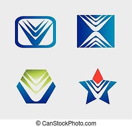 logo, abstrakcyjny, ikona, element
