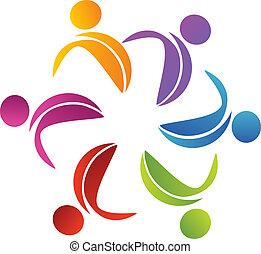 logo, abstrakcyjny, kwiat