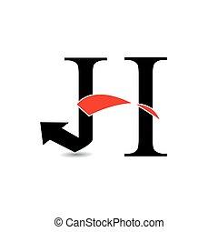 logo, abstrakcyjny, litera h