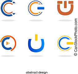 """logo, abstrakcyjny, początkowy, """"c"""""""