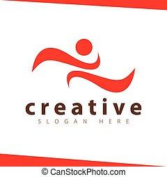 logo, abstrakcyjny, sport, ludzie