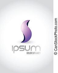 logo, abstrakcyjny, symbol, ilustracja