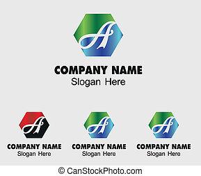 logo, abstrakcyjny zamiar, szablon